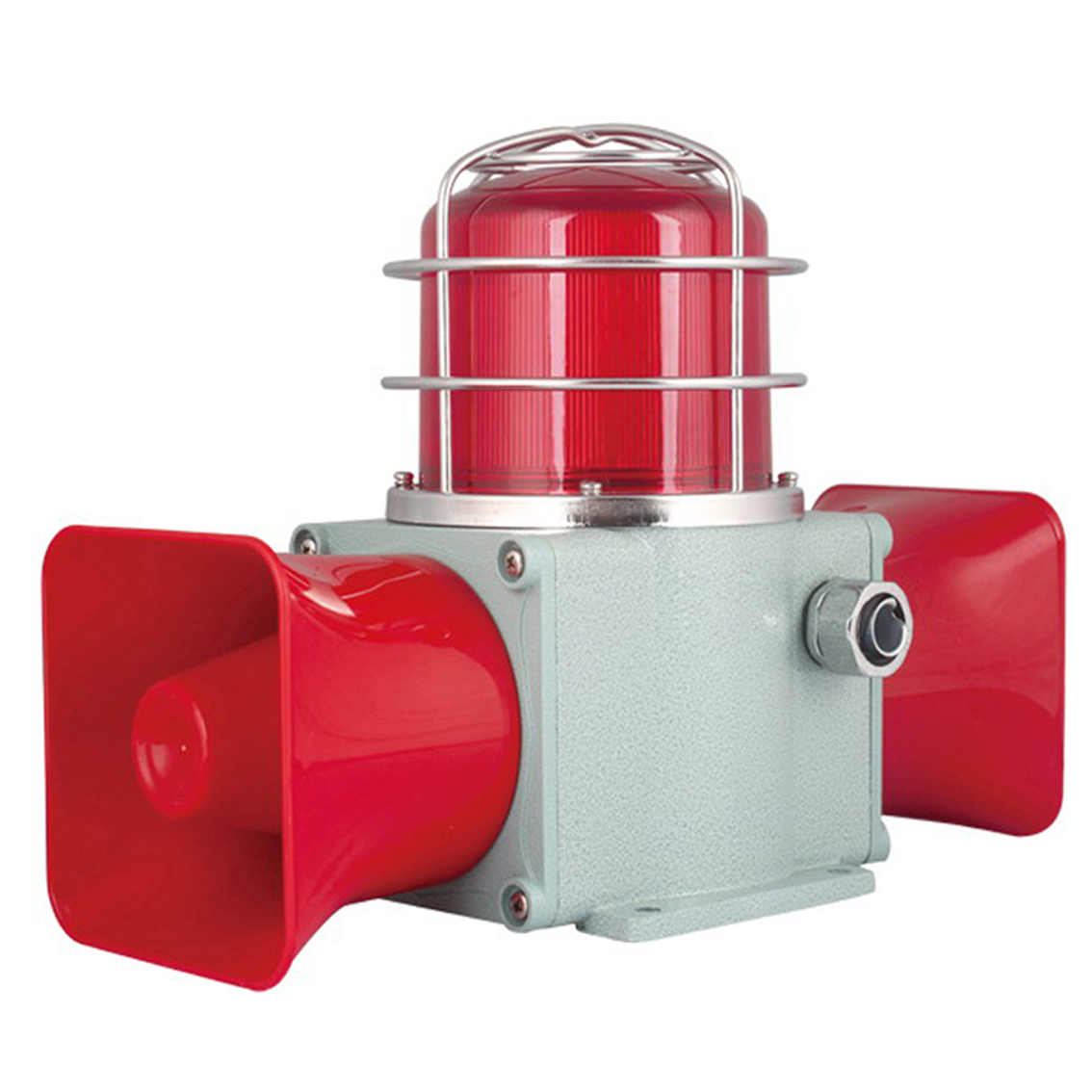 HDSLD-135 Heavy Duty Sounder With Warning Beacon Double Horns